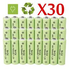 30pcs AA Rechargeable Batteries NiCd 700mAh 1.2v Garden Solar Ni-Cd Light LED