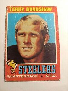 1971 Topps Terry Bradshaw (Steelers) Rookie Card (HOF) / No Reserve