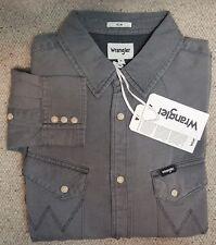 WRANGLER  western denim shirt Camicia Jeans Slim Grigio Tg.M