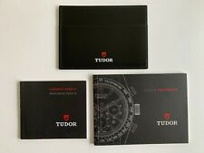 NEW TUDOR FASTRIDER MANUAL BOOKLET LEATHER CARD HOLDER WITH SERVICE BOOKLET SET