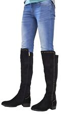High Boots Long Over The Knee Tassel Contrast Stud Detail Shoes UK Womens Ladies