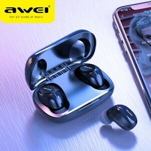AWEI T20 Wireless Earbuds,  Headphones with Noise Cancelling and True Battery