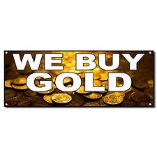 We Buy Gold Business Vinyl Banner Sign W/ Grommets 3 ft x 6 ft