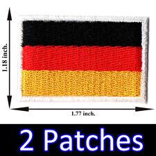 2 x Germany Flag Embroidered Patch German Iron On Berlin Munich Porsche Audi BMW