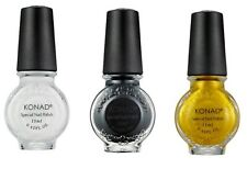 Konad Stamping Nail Art  Special Polish White, Black, Gold 11ml  GREAT DEAL