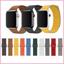 Genuine Leather Loop Band Strap for Apple Watch 5 4 3 2 1 40mm 44mm