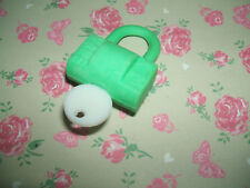 Rare 1980s Yale Key and Padlock Novelty eraser rubber gomme gommine