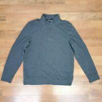 Mens Calvin Klein Pullover Jacket 1/4 Zip Gray Medium Lightweight Sweater