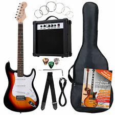 B-WARE E-Gitarre 7-teilig Zubehör Set Verstärker Amp Gigbag Tasche Gurt Sunburst