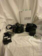 Nikon D7100 24.1 MP Digital SLR Camera - Black and 2 AF lenses