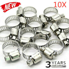 "10x 3/8""-5/8"" Stainless Steel Drive Hose Clamp Fuel Line Worm Clip Adjustable ~"