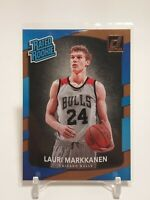 2017-18 Panini Donruss Rated Rookie Lauri Markkanen #159 RC Chicago Bulls
