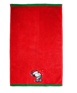 New with Tag - Snoopy Peanuts™ Be Merry Hand Towel ( Red ) size: 16 in x 26 in