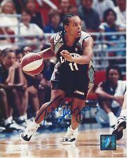 TERESA WEATHERSPOON AUTOGRAPHED 8x10 WNBA LOGO PHOTOGRAPH NY LIBERTY / SPARKS