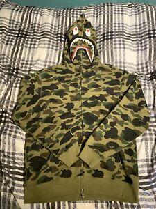 BAPE 1st Camo Shark Full Zip Hoodie   Large   Cotton Hooded Sweatshirt Jacket
