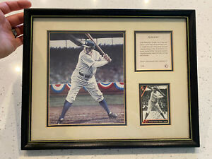 Babe ruth framed 1992 kelly Russell color lithograph print.
