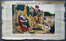 SAINTE GENEVIEVE DE BRABANT Imagerie DEMBOUR Metz Grande Litho Gravure ancienne
