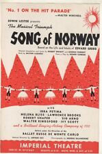 "Irra Petina  ""Song Of Norway""  FLYER  Broadway  1944  Edvard Grieg"