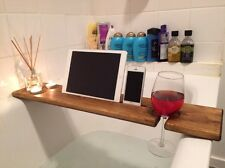 Wooden Bath Bar Caddy- Bath tray- Bath mate Dark Oak  a unique4u tablet holder