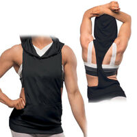 Women Casual Sport Hoodie Sleeveless Vest Fitness Workout Blouse Tops T Shirt
