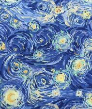 Starry Night Cotton Quilting Fabric- By The 1/4 Yard