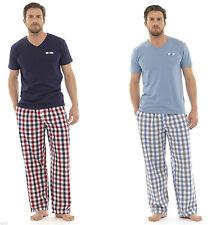 Checked Short Sleeve Men's Nightwear