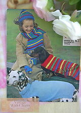 Vintage Knitting Pattern Dogs Coats 2 Styles & Childs Scarf, Hat & Mitts. 99p!