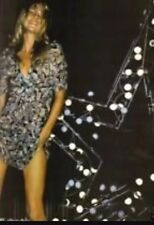 KATE MOSS VTG SiLK SAGE PANSY BARBED WIRE SHEER TEA DRESS FESTIVAL TOPSHOP 10 38