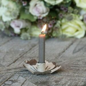 Mini Candle Holder Vintage Aged Cream Flower for Miniature 1.2cm Diameter Candle