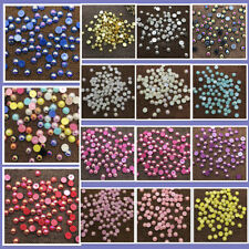 DIY 2/4/6/8/10/12mm Half Round Bead Flat Back Pearl Scrapbooking Embellishment
