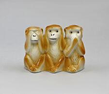 Porzellan Figur 3 Affen der Weisheit Nikko braun Wagner & Apel 7x3x6cm 9942485