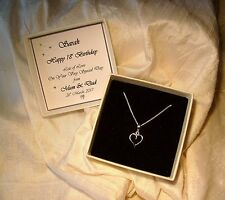 18th Birthday Gift Jewellery Sterling silver heart pendant Personalized box