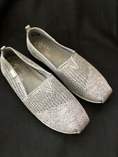 Bobs by Skechers Gray Slip On Memory Foam Shoes Womens Size 11 EUC