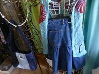 lot femme,fillette =36/38===3piéces ,jupe jeans ,corsage et sac neuf  bleu