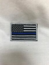 Thin Blue Line Police American Flag Tactical Patch Subdued SWAT Morale Hook Loop