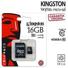 Tarjeta MicroSD Kingston 16GB Clase 10 - Memoria Micro SD 16 GB Class