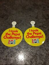 NOS Take the Pepsi Challenge Let Your Taste Decide Yellow Souvenir Patch