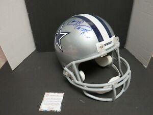 Larry Brown MVP Dallas Cowboys Autographed FULL Size Replica Helmet COA