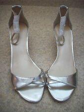 New Nine West Silver Ankle Strap Open Toe Heel 8.5 Medium