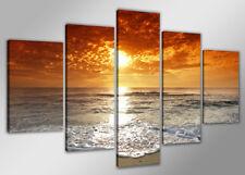 Bild 200x100 cm 5 tlg Strand echte Leinwand XXXL Bilder Nr 6311>  Visario