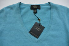 Charter Club Cashmere Luxury Sweater 2 Ply S Blue V-Neck Pullover NWT