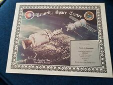 Apollo-Soyuz Test Project / Astp Witness Certificate Male Named