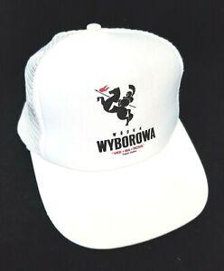 Wyborowa Poland Vodka Trucker Mesh Hat Vintage Ball Cap White Liquor Advertising