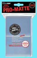 100 ULTRA PRO CLEAR PRO-MATTE STANDARD SIZE DECK PROTECTORS Card Sleeves MTG