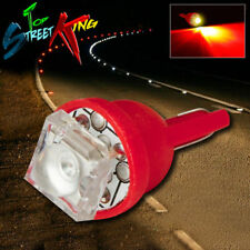 1 SUPER FLUX LED T10 W5W 194 168 RED INTERIOR DOME WEDGE LIGHT BULB UPGRADE