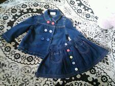 Crazy 8 by Gymboree 2pc Denim Jacket Skirt Set Size 2T 24 Months NWOT 2013