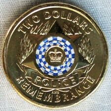 NEW*AUSTRALIA /AUSTRALIEN_2 Dollars 2019_30 Years of Police Remembrance_unc_lose