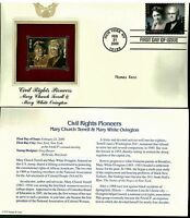 Civil Rights Pioneers Postal Commemorative Society Proof Replica Stamp  22k Gold