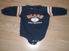 """Infant/Baby Chicago Bears 3/6 Mo L/S Creeper One-Piece """"Future Quarterback"""" NFL"""