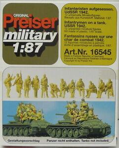 Infantry Sitting Up, USSR 1942, Ho, 1/87, Preiser, Plastic, New